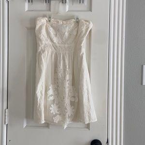 Womens off white lace dress